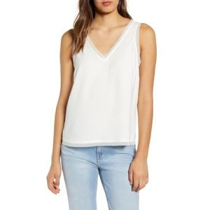 Chelsea28 White Raw Edge Tank from Nordstrom